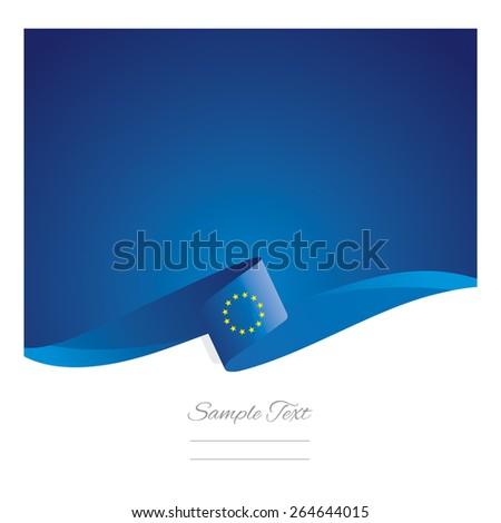 New abstract European Union flag ribbon - stock vector