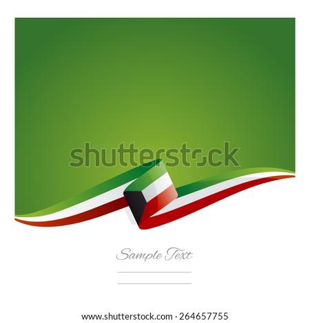 New abstract Kuwait flag ribbon - stock vector