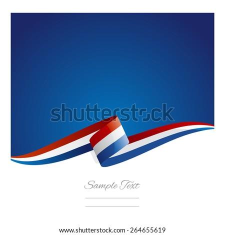 New abstract Netherlands flag ribbon - stock vector
