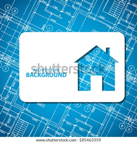 New architecture card for any design. Vector illustration - stock vector