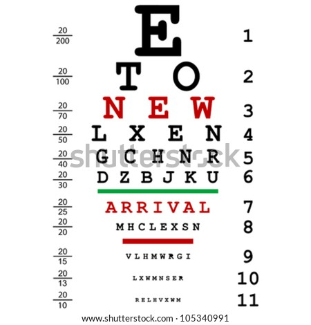 Sight Test Chart Stock Images RoyaltyFree Images  Vectors