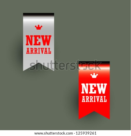 New arrival banners - stock vector