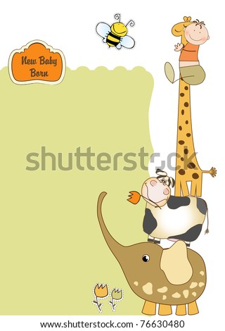 new baby arrived - stock vector
