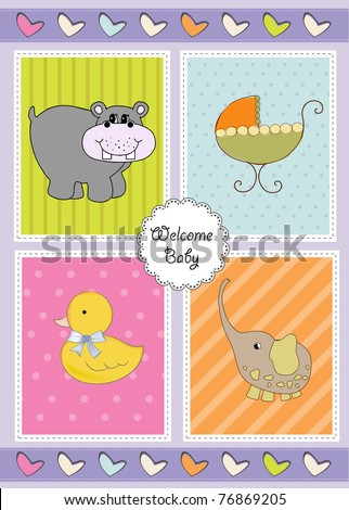 new baby shower invitation - stock vector