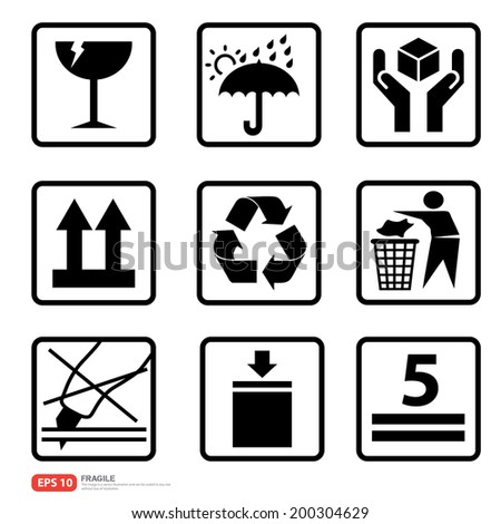 New box sign warning vector icon  - stock vector