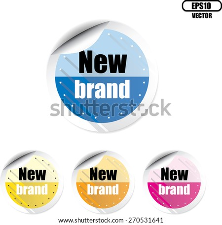 New brand modern style colorful stickers and label set. Vector illustration. - stock vector