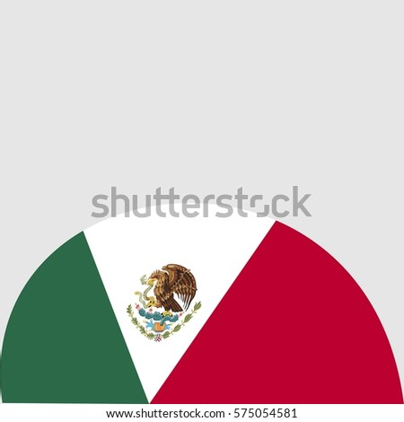 Mexico flag celebrating republic day typography stock for Mexico brochure template