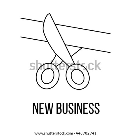 New business or logo line art style. Vector Illustration. - stock vector