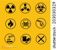 New chemical sign warning vector design - stock photo