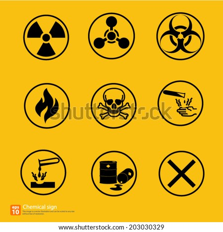 New chemical sign warning vector design - stock vector
