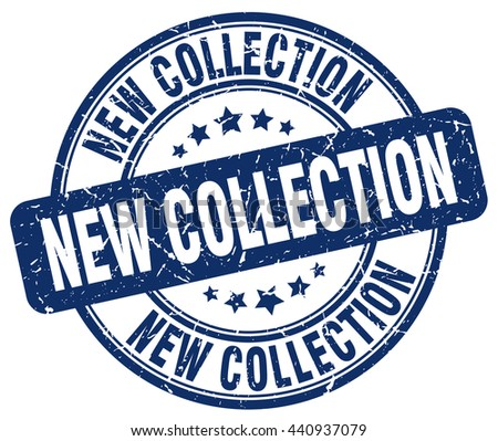 new collection blue grunge round vintage rubber stamp.new collection stamp.new collection round stamp.new collection grunge stamp.new collection.new collection vintage stamp.
