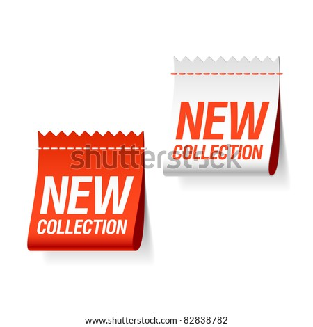 New collection labels. Vector. - stock vector