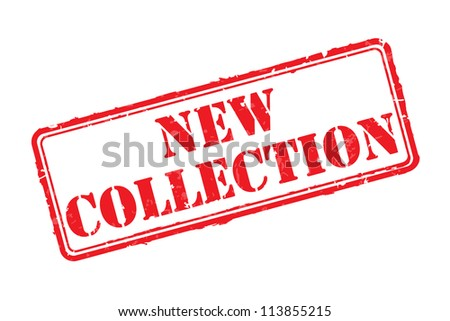 New collection rubber stamp vector illustration. Contains original brushes - stock vector