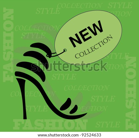 New collection shoes icon. Vector. - stock vector