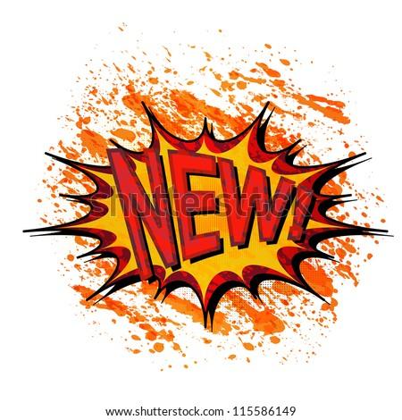 New. Comic book explosion. - stock vector