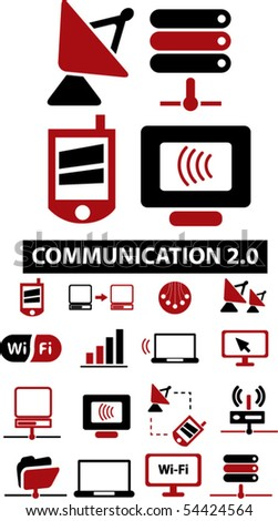 new communication signs. vector - stock vector