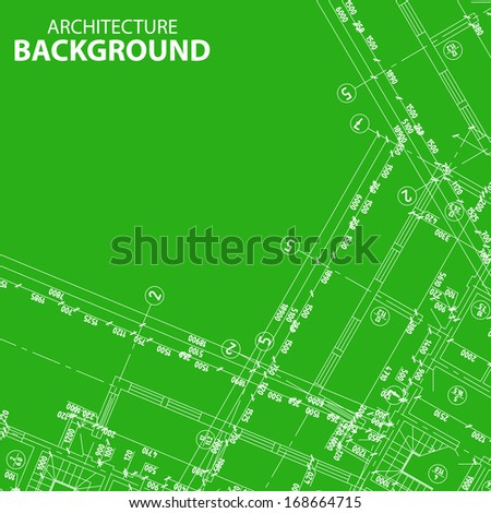 New Detailed architectural project for any design. Vector illustration - stock vector
