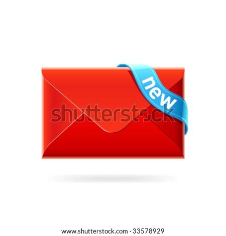 New e-mail. Vector icon. - stock vector