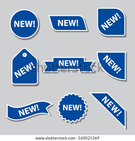 new flat banners - stock vector