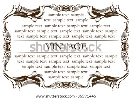 new frame vintage old. Vector illustration - stock vector