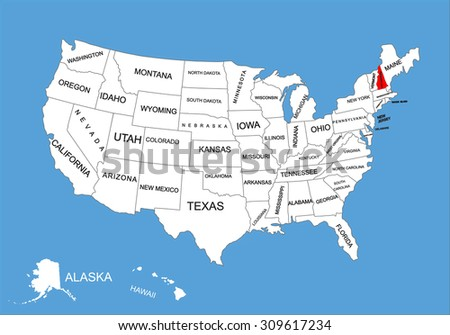 new hampshire state usa vector map stock vector 309617234 shutterstock