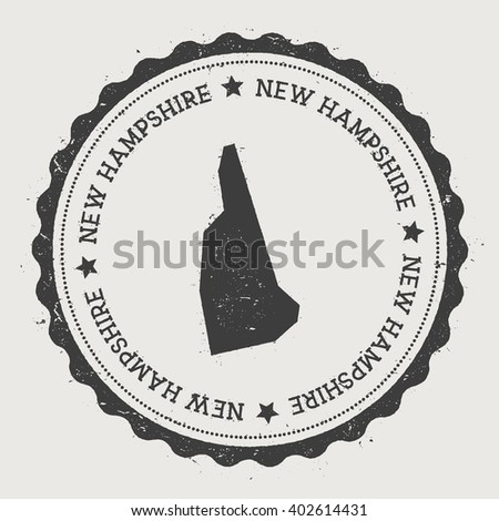 New Hampshire Vector Seal Vintage Usa Stock Vector - New hampshire on us map