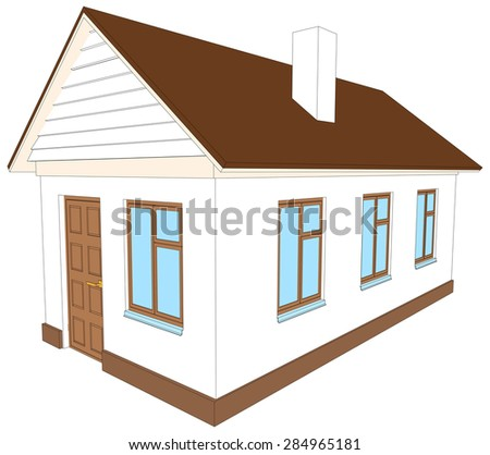 Side of brick building stock vectors vector clip art for Building houses with side views