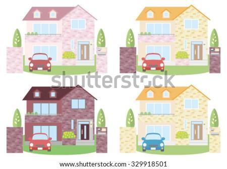 new houses - stock vector