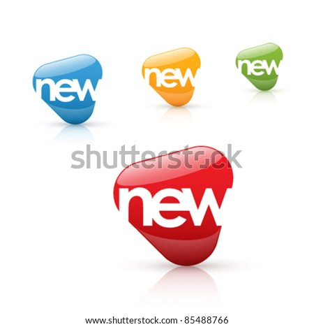new icon - stock vector