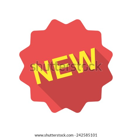 New icon (flat design) - stock vector