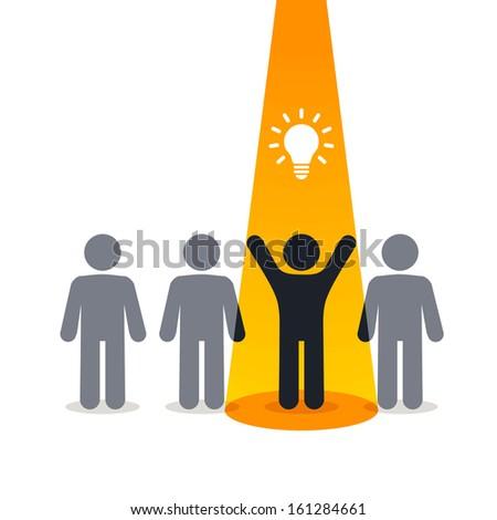 New idea - pictogram people  - stock vector