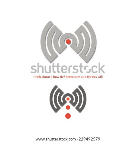 new isolated wifi connection icon. vector logo design  - stock vector