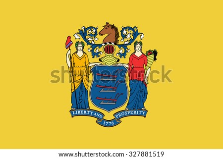 New jersey state flag - stock vector