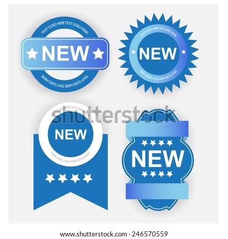 New label/badges. vector - stock vector