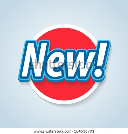 New label. Vector eps 10. - stock vector