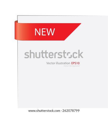 New label with white paper. Vector banner. - stock vector