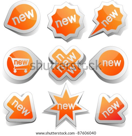 New Labels. Graphic Design Editable For Your Design.  - stock vector