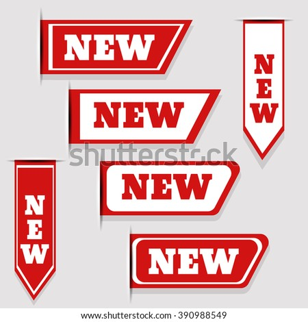 New labels set vector eps 10 illustration - stock vector