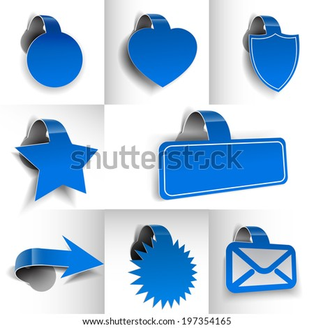 New Labels, Tag, Sticker Design Element.  - stock vector