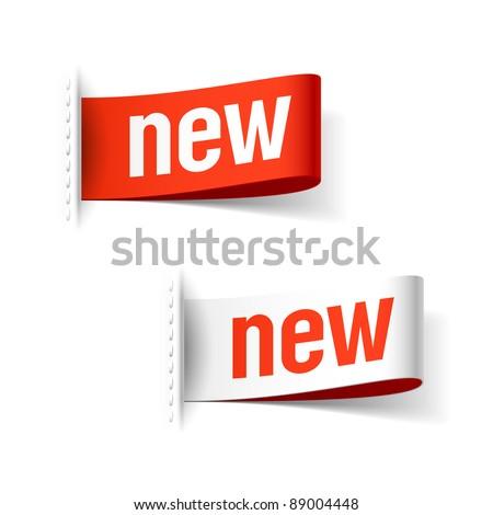New labels. Vector. - stock vector