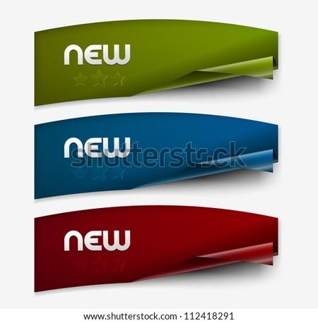 New labels. vector set design element. - stock vector