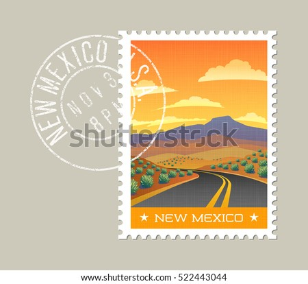New mexico postage stamp design vector stock vector for Arid garden design 7 little words