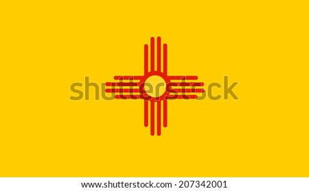 New Mexico State Flag vector. - stock vector
