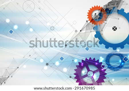 New Model Technology of Business Background - stock vector