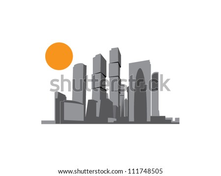 New Moscow City building - stock vector