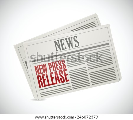 new press release newspaper illustration design over a white background - stock vector
