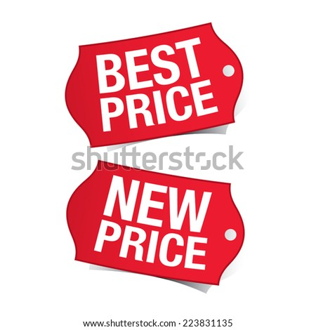 New price and best price labels - stock vector