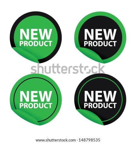 New product green set. Vector - stock vector