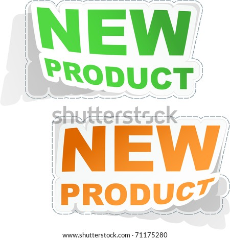 New product. Vector set of sale design elements isolated on white background. - stock vector