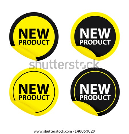 New product yellow set. Vector - stock vector